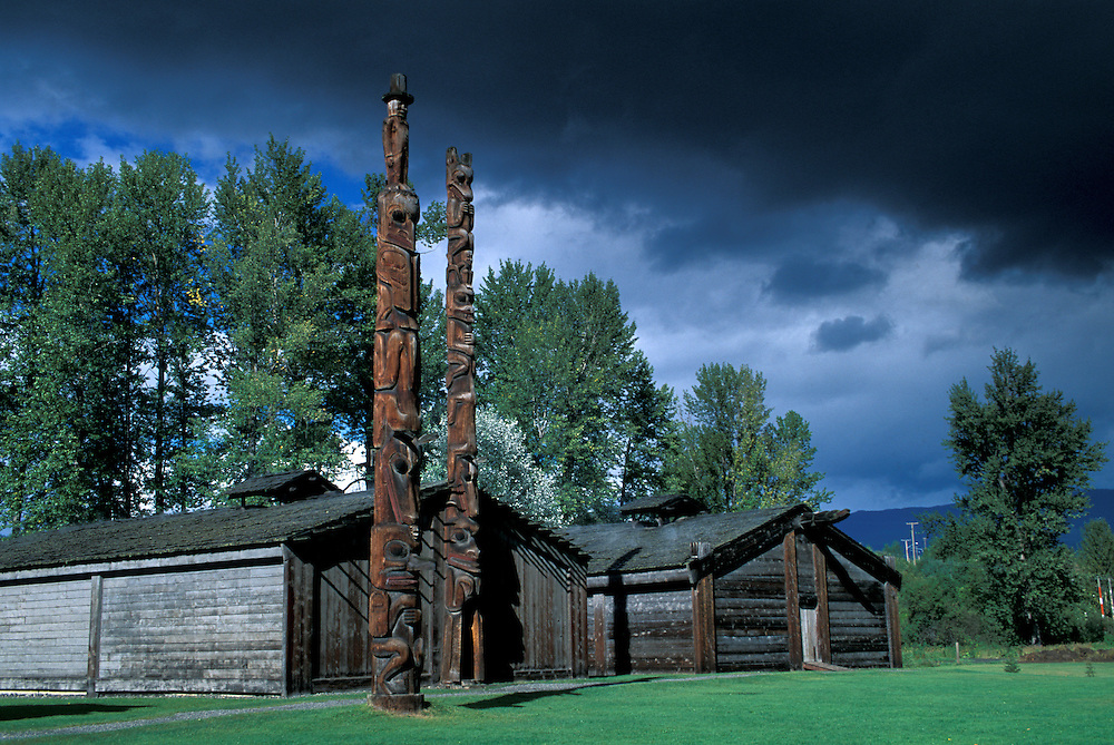 Ksan Historic Village,.Hazelton,.British Columbia, Canada