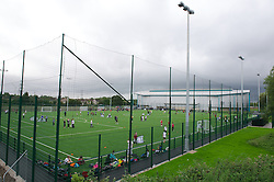NEWPORT, WALES - Wednesday, July 4, 2012: The Football Association of Wales open the first 3G pitch at the National Development Centre at the Newport International Sports Village. (Pic by David Rawcliffe/Propaganda)