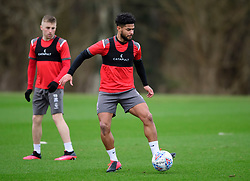 Lincoln City's Joe Morrell, left, and Liam Bridcutt during a training session at the BMW Soper of Lincoln Elite Performance Centre, Scampton, Lincolnshire.<br /> <br /> Picture: Chris Vaughan Photography for Lincoln City FC<br /> Date: February 4, 2020