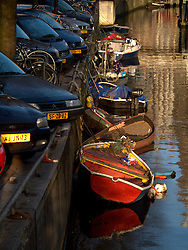 NETHERLANDS AMSTERDAM 02JAN09 - Boats moored in a canal in Amsterdam's city centre...jre/Photo by Jiri Rezac
