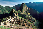 PERU, PREHISPANIC, INCA Machu Picchu; city walls and gate