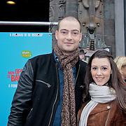 NLD/Amsterdam/20110205 - Premiere film Mijn opa is een Bankrover, lange Frans en partner Danielle van Aalderen