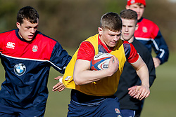 England U20 players during a session at Bristol Rugby's training facility ahead of the U20 Six Nations match versus Wales - Mandatory byline: Rogan Thomson/JMP - 08/03/2016 - RUGBY UNION - Clifton Rugby Club - Bristol, England - England Under 20s Training at Bristol Rugby.