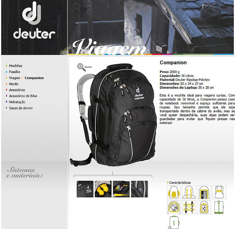 Fotografia de produto para www.deuter.com.br usada em materiais de divulga&ccedil;&atilde;o e website.<br /> <br /> Product photography for www.deuter.com.br used on release materials and website.