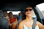 Angelina and Arkadiy Yatsenko, Vanessa Monteiro and Cláudia Santos on their way to a camping trip at Serra da Estrela.