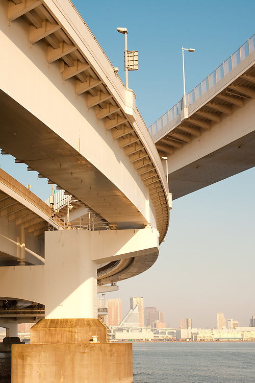 Access to Rainbow Bridge, Odaiba, Tokyo, Kanto Region, Honshu, Japan