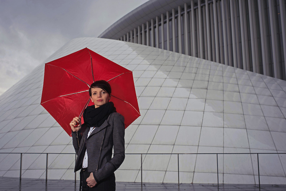 A portrait shoot at the Philharmonie in Luxembourg with the Profoto B2 and the OCF Octa.