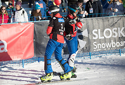 Ulbing Daniela and Meschik Ina during the FIS snowboarding world cup race in Rogla (SI / SLO) | GS on January 20, 2018, in Jasna Ski slope, Rogla, Slovenia. Photo by Urban Meglic / Sportida
