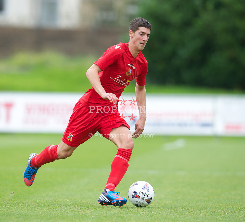 LLANELLI, WALES - Saturday, September 15, 2012: Llanelli's Corey Jenkins in action against Newtown during the Welsh Premier League match at Stebonheath Park. (Pic by David Rawcliffe/Propaganda)
