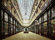 Shopping Arcade, Rotterdam, Holland, 1890-1900.  Shops lining both sides of glass-roofed arcade. Netherlands   City Trade Retail
