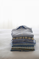 Ironed and folded shirts