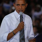 Barack Obama Town Hall at North Farmington Hills High School in Farmington Hills, MI. Monday, September 08, 2008.
