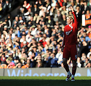 Fernando Torres (Liverpool) calls for the ball. Fulham v Liverpool, Barclays Premier League,  Craven Cottage,  London. 4th April 2009.