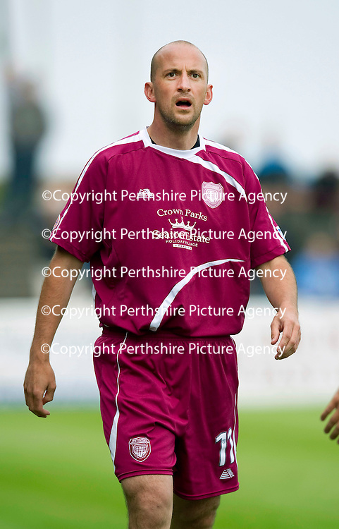 Arbroath FC....Season 2011-12<br /> Player-Manager Paul Sheerin<br /> Jordan Elfverson<br /> Picture by Graeme Hart.<br /> Copyright Perthshire Picture Agency<br /> Tel: 01738 623350  Mobile: 07990 594431