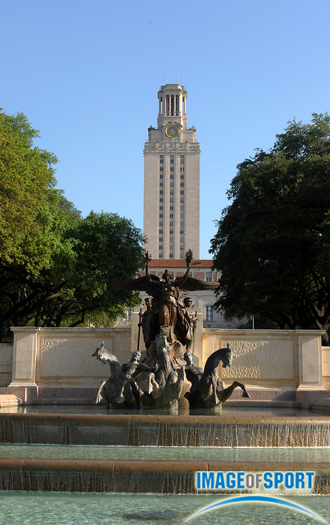 Mar 31, 2012; Austin, TX, USA; General view of the main building and the tower on the campus of the University of Texas.