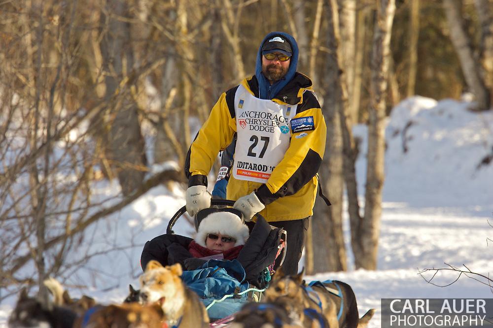 March 7th, 2009:  Anchorage, Alaska - Tom Thurston of Oak Creek, Colorado during the 2009 Iditarod Ceremonial Start.