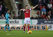 Rotherham United midfielder Richard Smallwood (33) issues instructions during the Sky Bet Championship match between Rotherham United and Brighton and Hove Albion at the New York Stadium, Rotherham, England on 12 January 2016.