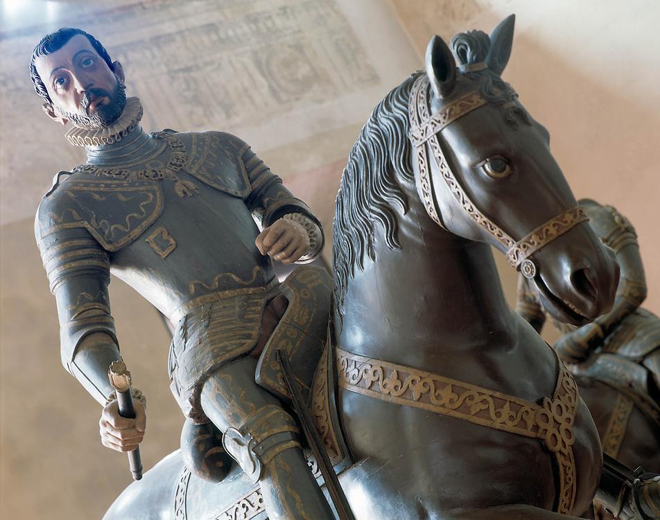 Sabbioneta (MN) - La città ideale di Vespasiano Gonzaga - Statua equestre di Vespasiano