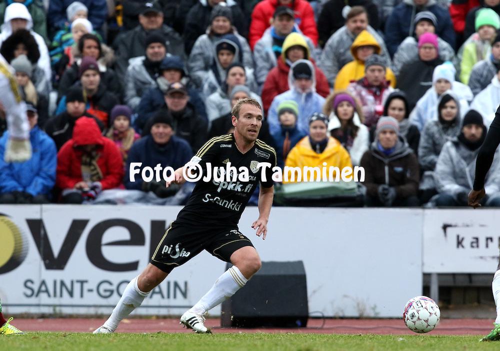25.10.2015, Keskuskentt&auml;. Sein&auml;joki.<br /> Veikkausliiga 2015.<br /> Sein&auml;joen Jalkapallokerho - FF Jaro.<br /> Jussi Vasara - SJK