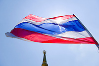 Flag of Thailand flying over Chedi&#xA;<br />