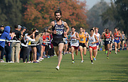 Nov 9, 2018; Sacramento, CA, USA; Nick Hauger (317) of Portland wins the men's race in 29:42 during the NCAA West Regional at Haggin Oaks Golf Course.