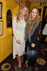 Left to right, LADY KITTY SPENCER and HUM FLEMING at a party to celebrate Alice Naylor-Leyland's Collaboration with French Sole held at Annabel's, 44 Berkeley Square, London on February 2nd 2016
