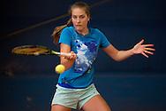 Antonia Lottner (GER) beim Training, <br /> Tennis - Porsche Grand Prix - WTA -   - Stuttgart -  - Germany  - 21 April 2015. <br /> &copy; Juergen Hasenkopf