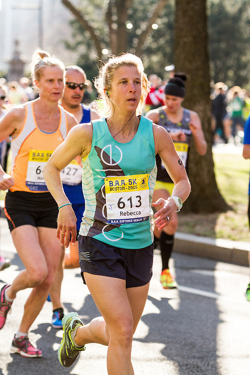 Boston Marathon: BAA 5K road race, Oiselle, Rebecca