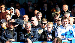 Disappointed Bristol Rovers fans - Photo mandatory by-line: Neil Brookman/JMP - Mobile: 07966 386802 - 18/04/2015 - SPORT - Football - Dover - Crabble Athletic Ground - Dover Athletic v Bristol Rovers - Vanarama Football Conference