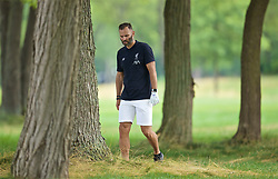 SOUTH BEND, INDIANA, USA - Wednesday, July 17, 2019: Liverpool's Ambassador Patrik Berger plays golf at the Warren Golf Club at Notre Dame University on day two of the club's pre-season tour of America. (Pic by David Rawcliffe/Propaganda)