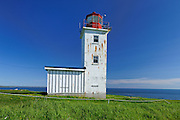 Cape St. Mary Lighthouse in  St. Mary's Bay <br /> Near Mavillette<br /> Nova Scotia<br /> Canada