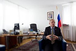 Ambassador Marjan Setinc of Slovenian Embassy in Warsaw, Poland on June 12, 2012. (Photo by Vid Ponikvar / Sportida.com)