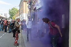 2015-08-22 Class War protest against Jack The Ripper Museum on Cable Street.