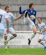 Malte Sjørslev (Holbæk B&I) under kampen i 2. Division mellem FC Helsingør og Holbæk B&I den 6. september 2019 på Helsingør Ny Stadion (Foto: Claus Birch).
