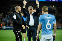 Norwegian head coach of Malmo FF Age Hareide cheers the fans at the end of the UEFA Champions League Group A football match between Paris Saint Germain and Malmo FF on September 15, 2015 at Parc des Princes stadium in Paris, France. Photo Jean Marie Hervio / Regamedia / DPPI