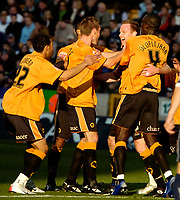 Photo: Ed Godden.<br /> Wolverhampton Wanderers v Southend United. Coca Cola Championship. 04/11/2006. Wolves' Captain Jody Craddock (2nd from the right) celebrates scoring to make it 2-0.