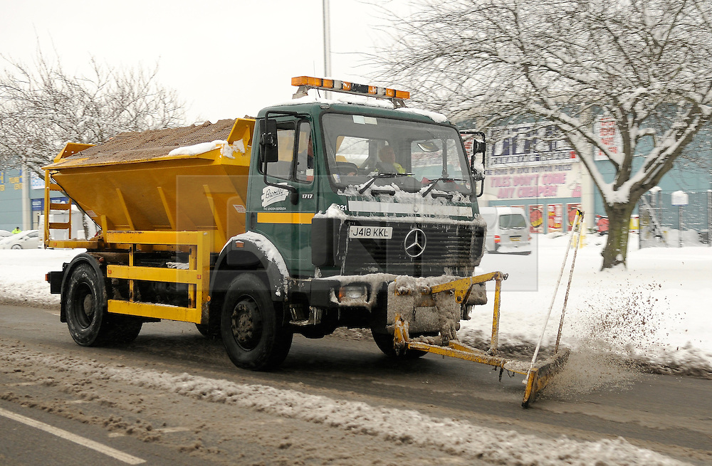© under license to London News Pictures.2.12.2010 A snow plough clears roads in Kent. Snow in Orpington. Picture credit should read Grant Falvey/London News Pictures
