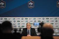 Philippe Bergeroo - 23.04.2015 - Conference de presse - Equipe de France feminine<br /> Photo : Andre Ferreira / Icon sport