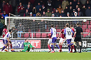 Rotherham United midfielder (on loan from Brighton) Richie Towell (17) scores a goal from open play 0-3 during the EFL Sky Bet League 1 match between Northampton Town and Rotherham United at Sixfields Stadium, Northampton, England on 17 March 2018. Picture by Dennis Goodwin.