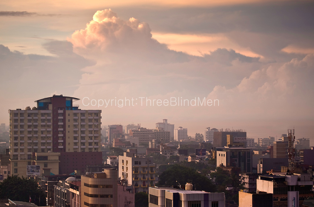 Colombo at dawn. Early morning views from Colombo. Sri Lanka