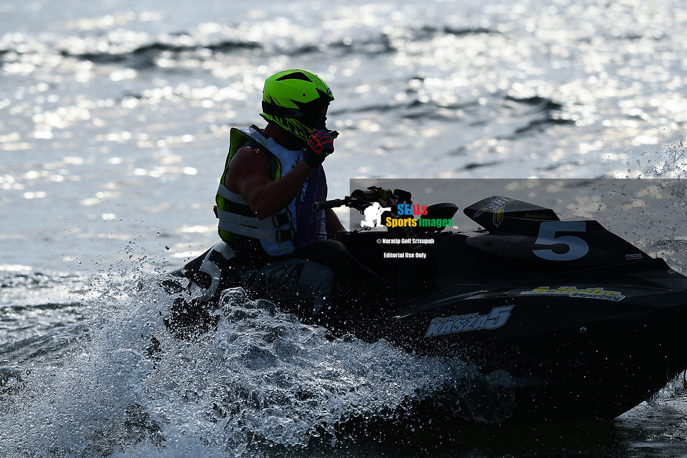 PATTAYA, THAILAND - DECEMBER 09: Gyorgy Kasza (5) of Hungary and Kasza Racing reaction after the Pro Runabout 1100 Open Moto4 at the Thai Airways International Jet Ski World Cup 2018, Jomtien Beach, Pattaya, Thailand on December 09, 2018. <br /> .<br /> .<br /> .<br /> (Photo by: Naratip Golf Srisupab/SEALs Sports Images)<br /> .<br /> Any image use must include a mandatory credit line adjacent to the content which should read: Naratip Golf Srisupab/SEALs Sports Images