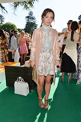 PERDITA WEEKS at the Summer Solstice Party during the Boodles Tennis event hosted by Beulah London and Taylor Morris at Stoke Park, Park Road, Stoke Poges, Buckinghamshire on 21st June 2014.