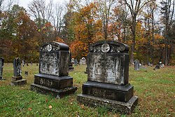 Tombstone in Little Hope Cemetery, Mammoth Cave National Park, Kentucky, United States of America