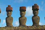 Ahu Tongariki, restored 1992, Easter Island (Rapa Nui), Chile