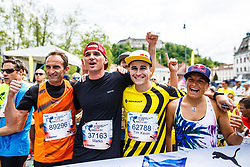 Roman Kejzar, Marko Grilc, Tim Kevin Ravnjak, Passion 4Life Renault Ambssador and Manca Notar before start of Wings for Life world marathon in Ljubljana, Slovenia on 7th of May, 2017 .Photo by Grega Valancic / Sportida