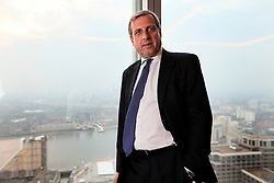 UK ENGLAND LONDON 27MAR14 - Klaus Diederichs, Head of European Investment Banking at JP Morgan Chase & Co photographed at the company's HQ in the docklands, London.<br /> <br /> jre/Photo by Jiri Rezac<br /> <br /> © Jiri Rezac 2014