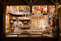 Amber Shop inside Sukiennice Renaissance Cloth Hall in the centre of Rynek Glowny Market Square Krakow Poland