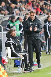 14.12.2014, Audi Sportpark, Ingolstadt, GER, 2. FBL, FC Ingolstadt 04 vs 1. FC Kaiserslautern, 17. Runde, im Bild Co-Trainer Michael Henke (Co-Trainer FC Ingolstadt 04) und Trainer Ralph Hasenhuettl (Cheftrainer FC Ingolstadt 04) // during the 2nd German Bundesliga 17th round match between FC Ingolstadt 04 and 1. FC Kaiserslautern at the Audi Sportpark in Ingolstadt, Germany on 2014/12/14. EXPA Pictures © 2014, PhotoCredit: EXPA/ Eibner-Pressefoto/ Strisch<br /> <br /> *****ATTENTION - OUT of GER*****