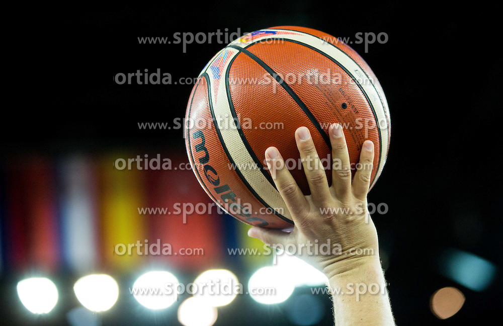 Ball during basketball match between Slovenia vs Netherlands at Day 4 in Group C of FIBA Europe Eurobasket 2015, on September 8, 2015, in Arena Zagreb, Croatia. Photo by Vid Ponikvar / Sportida