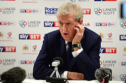 Crystal Palace manager Roy Hodgson in the press conference after the 4-1 defeat to Bristol City in the Carabao cup - Mandatory by-line: Dougie Allward/JMP - 24/10/2017 - FOOTBALL - Ashton Gate Stadium - Bristol, England - Bristol City v Crystal Palace - Carabao Cup